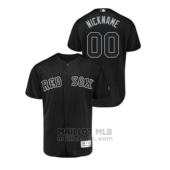 Maillot Baseball Hombre Boston Red Sox Personnalise 2019 Players Weekend Authentique Noir